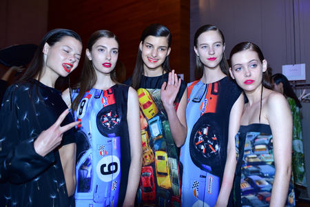 SYDNEY / AUSTRALIA - 20 May: Models get ready at backstage of House of Cannon fashiob show at Mercedes Benz Fashion Week Australia on 20 May 2016 in Carriageworks Sydney