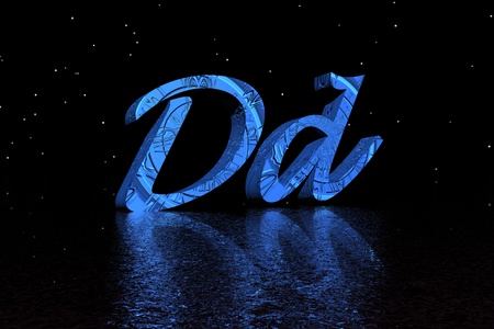 letter d blue and black