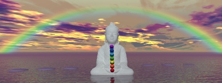 rainbow and chakras