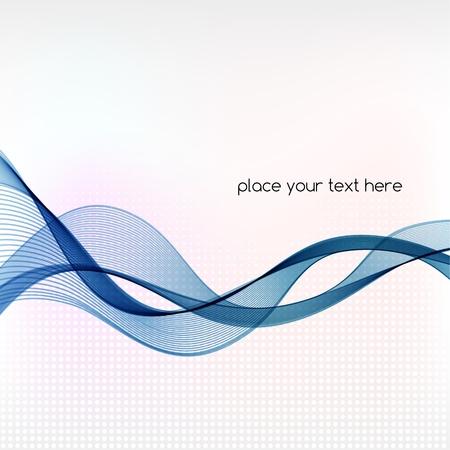 Illustration pour Vector Abstract background with blue smoke wave - image libre de droit