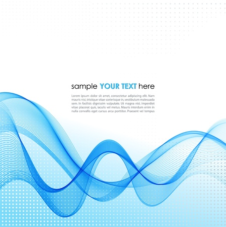 Vector Abstract background with blue smoke wave