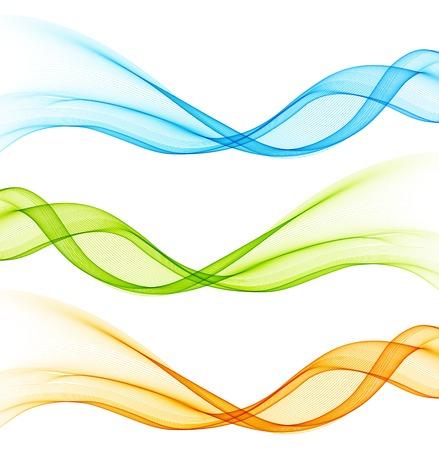 Illustration pour Set of color curve lines design element. Vector illustration - image libre de droit