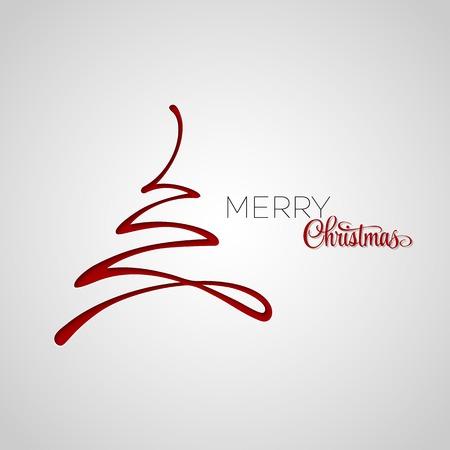 Illustration pour Merry Christmas tree greeting card. Paper design. Vector illustration.  - image libre de droit
