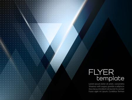 Ilustración de Vector color abstract geometric banner with triangle shapes. - Imagen libre de derechos