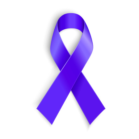 Purple ribbon. Symbol of general cancer awareness Lupus awareness drug overdose domestic violence Alzheimer disease