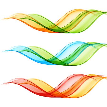 Illustration pour Set of vector transparent wave design element. - image libre de droit