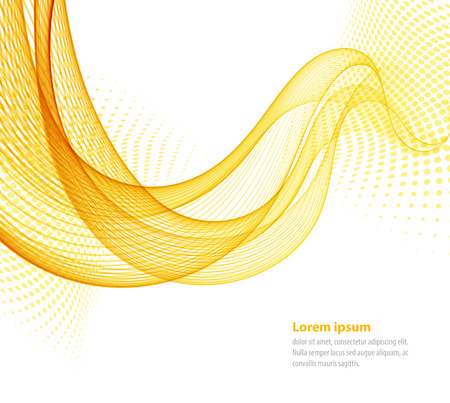 Vector smooth Yellow Transparent abstract waves For cover book, brochure, flyer, poster, magazine, website, annual report