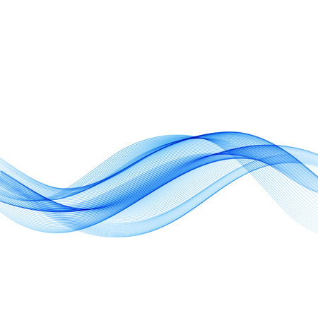 Illustration pour Abstract motion smooth color wave vector. Curve blue lines - image libre de droit