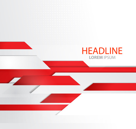 Illustration for abstract business background with lines. Template brochure design. Technology lines. Red Modern lines design - Royalty Free Image
