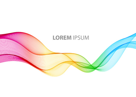 Illustration for Abstract motion smooth color wave vector. Curve rainbow  lines - Royalty Free Image