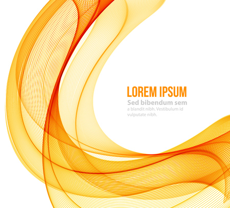 Illustration pour Abstract motion smooth color wave vector. Curve orange and yellow  lines - image libre de droit