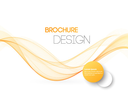 Illustration for Abstract motion smooth color wave vector. Curve orange and yellow  lines - Royalty Free Image