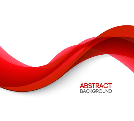 Illustration pour Abstract smooth color wave vector. Curve flow red motion illustration. Red wave - image libre de droit
