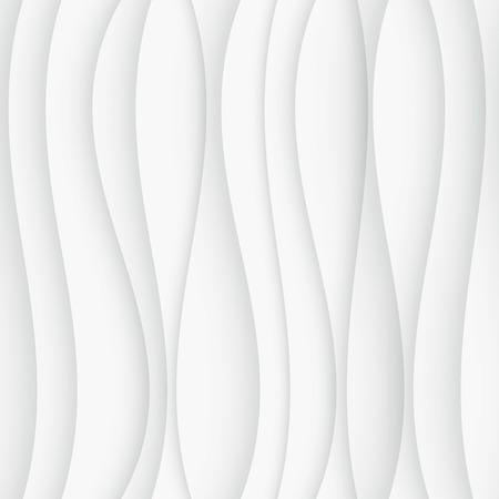 Illustration pour Seamless Wave Pattern. Curved Shapes Background. Regular White wave Texture - image libre de droit