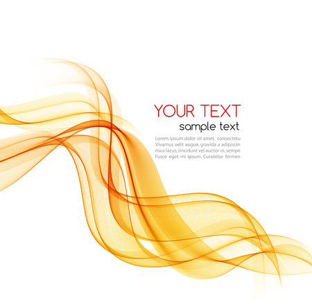 Illustration for Abstract motion smooth color wave vector. Curve orange lines - Royalty Free Image
