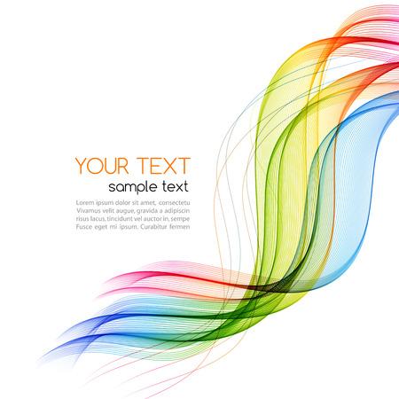 Illustration pour Vector Abstract color wave background. Rainbow wave - image libre de droit