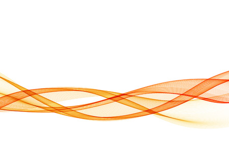 Illustration for Abstract vector background with orange smooth color wave. Color wavy lines - Royalty Free Image