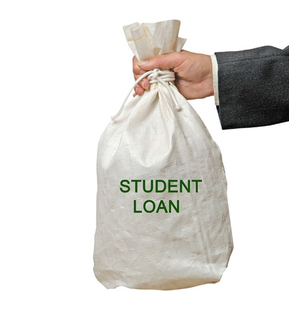 Bag with student loan