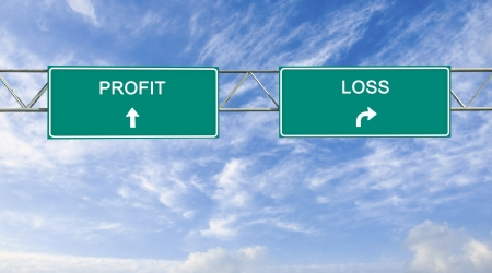 Road sign to profit and loss