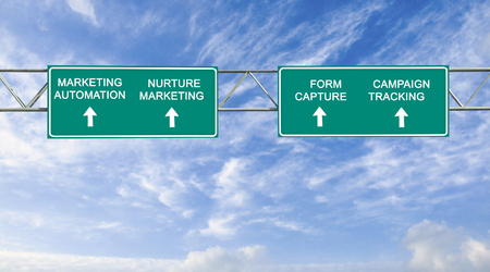 road sign to marketing automation