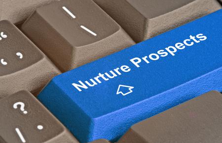 Keyboard with keyto nurture prospects