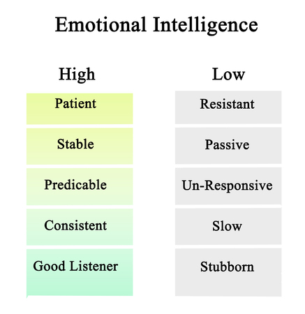 High and Low Emotional Intelligence