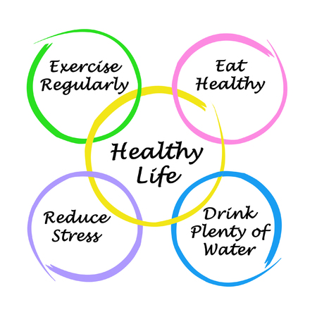 Photo for Diagram of healthy life - Royalty Free Image