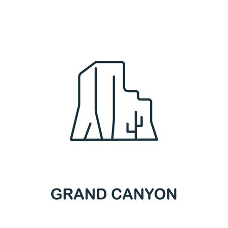 Illustration pour Grand Canyon icon from usa collection. Simple line Grand Canyon icon for templates, web design and infographics. - image libre de droit