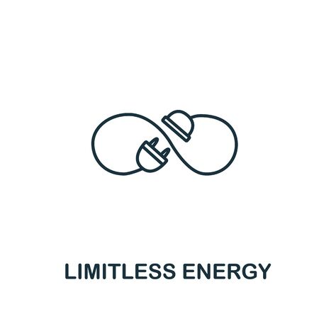 Photo for Limitless energy icon from clean energy collection. Simple line element limitless energy symbol for templates, web design and infographics. - Royalty Free Image