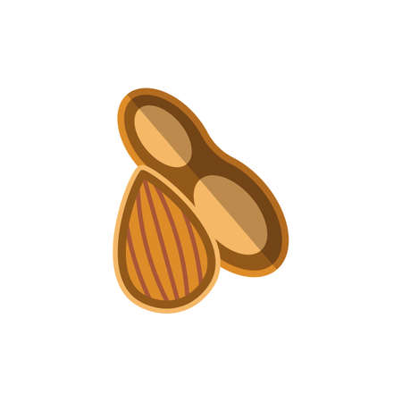 Illustration pour Nuts icon. Simple illustration from allergy collection. Monochrome Nuts icon for web design, templates and infographics. - image libre de droit