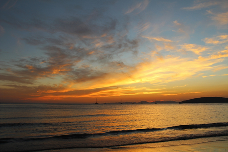 Photo for Beautiful view of the Andaman Sea at sunset. Krabi, Thailand. - Royalty Free Image