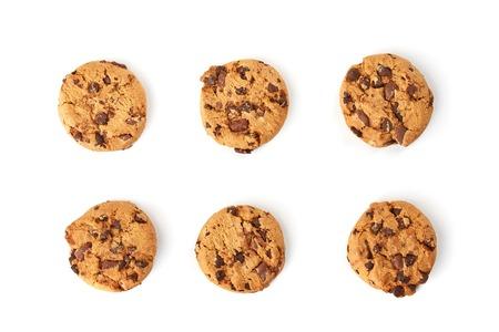 chocolate cookies top view