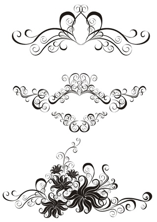 Decorative ornament  Floral pattern with butterfly, element for design
