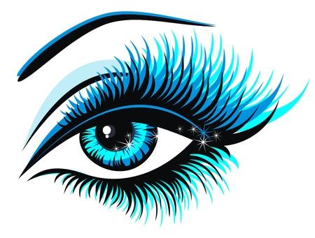 Beautiful female blue eye