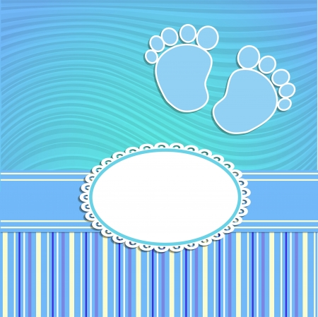 Illustration pour Card for newborn in scrabbook style or baby shower invitation - image libre de droit