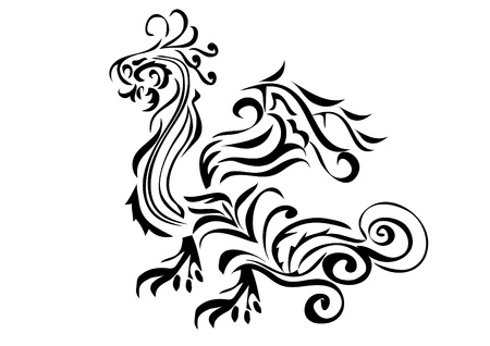 Dragon on the isolated background . vector illustration.