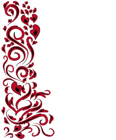 abstract bookmark with love elements. Framework