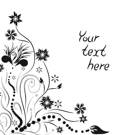 flower frame for your text