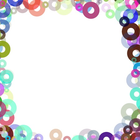 simple frame with colors bagels