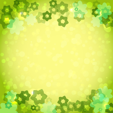 abstract green framework with flowers for your design. Summertime vector