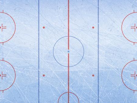 Ilustración de Vector of ice hockey rink. Textures blue ice. Ice rink. Vector illustration background. - Imagen libre de derechos