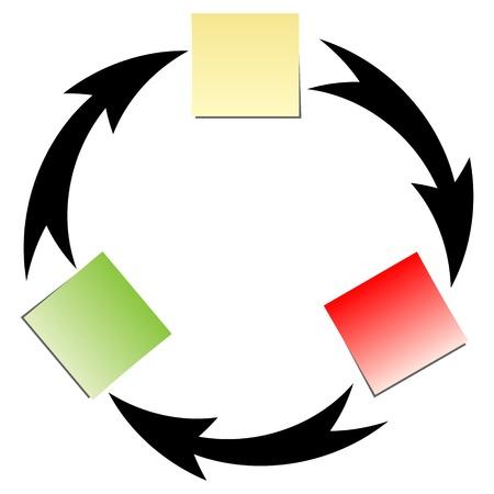 Illustration pour flow diagrm - image libre de droit