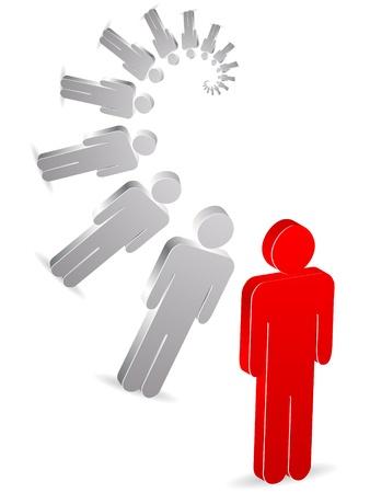 people arrangement