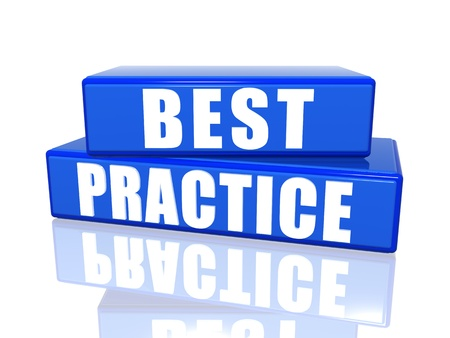 Best practice – 3d white over blue boxes