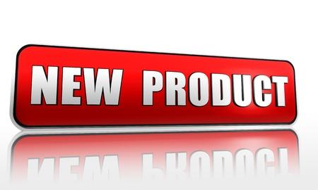 Photo pour New product red 3d banner with text - image libre de droit