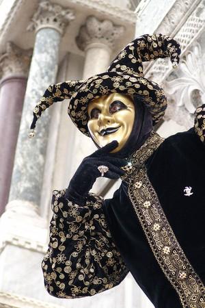Foto per Typical colored Carnival Mask in Venezia - Immagine Royalty Free