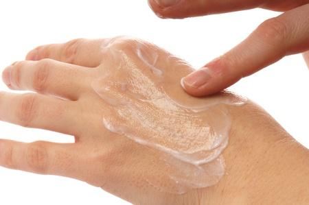 Photo pour Hand with Hand Cream - image libre de droit