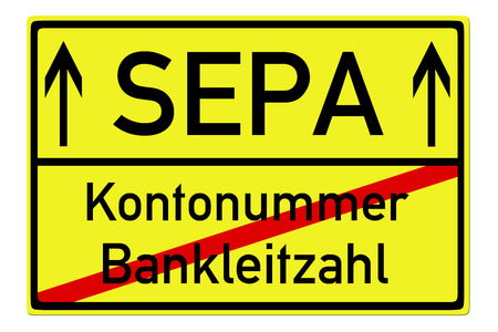 Shield with the german words SEPA and Account number