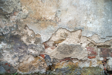 stone wall with a broken finery
