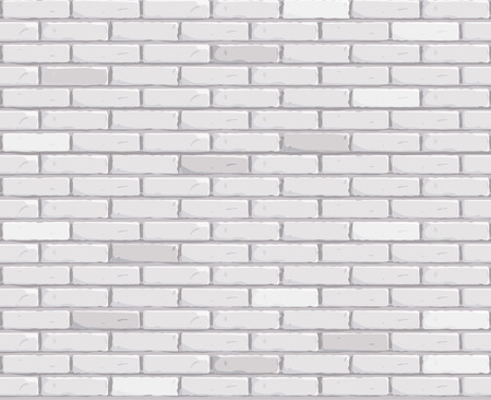 Illustration for White brick wall Texture seamless Vector illustration. Vector illustration - Royalty Free Image